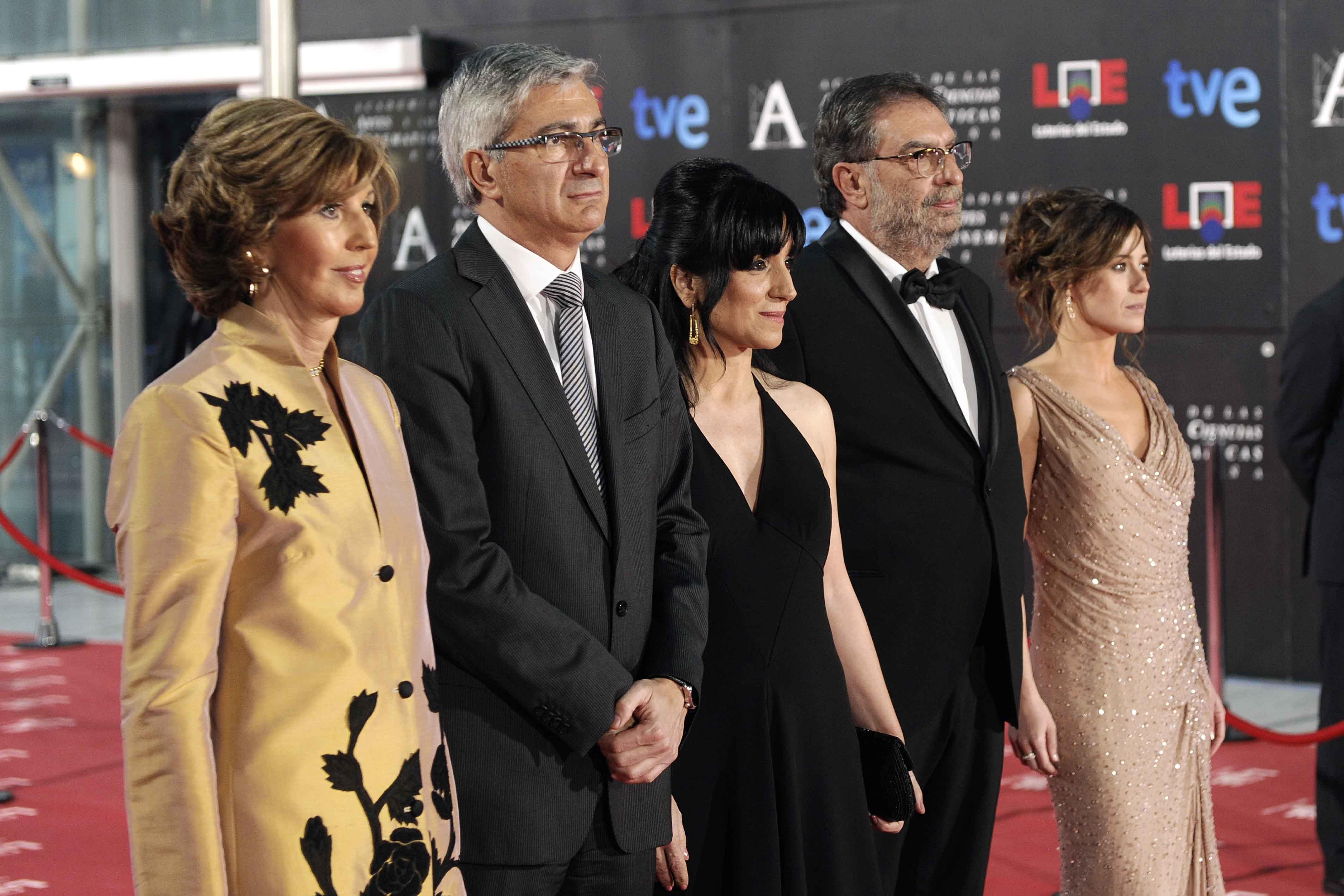 Premis Goya 2012, amb el President i les Vicepresidentes de l'Acadèmia de Cine